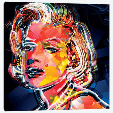 Marilyn II 3-Piece Canvas #DKK10} by Darkko Canvas Artwork
