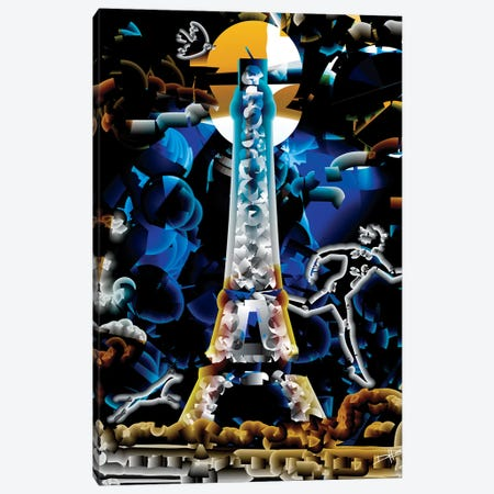 Minuit Paris Canvas Print #DKK11} by Darkko Canvas Art