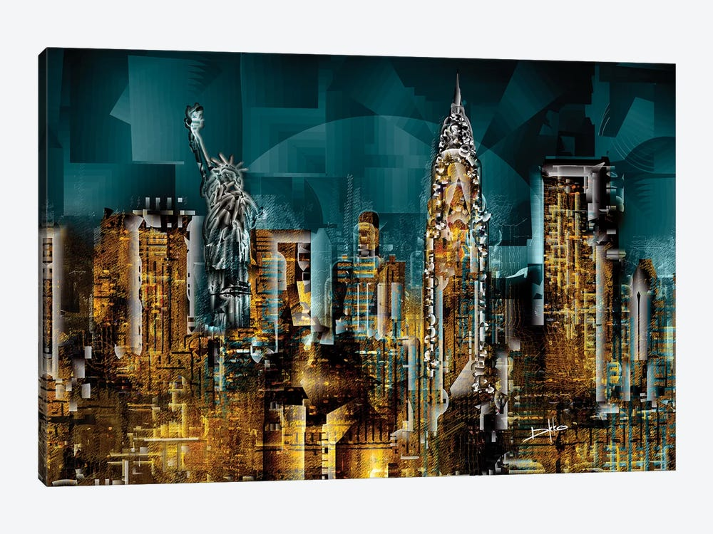 New York I by Darkko 1-piece Canvas Art Print