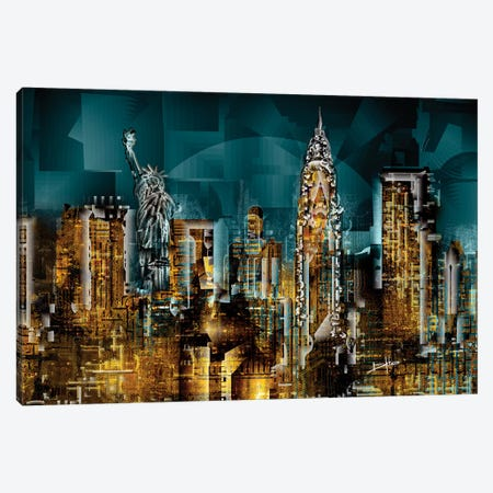 New York I 3-Piece Canvas #DKK13} by Darkko Canvas Artwork