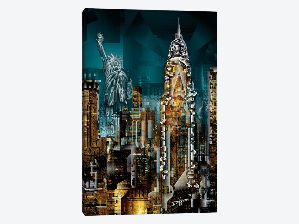 New York II 1-piece Canvas Wall Art