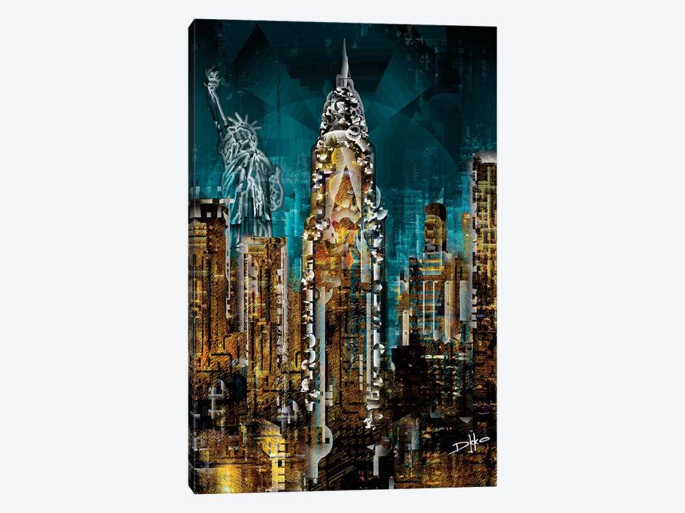 New York III by Darkko 1-piece Canvas Print