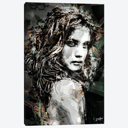 Savage Girl Canvas Print #DKK18} by Darkko Canvas Art