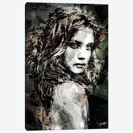 Savage Girl Canvas Print #DKK18} by Darkko Canvas Art