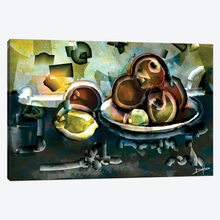Still Life With Apples Canvas Print #DKK22} by Darkko Canvas Art Print