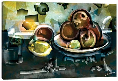 Still Life With Apples Canvas Art Print