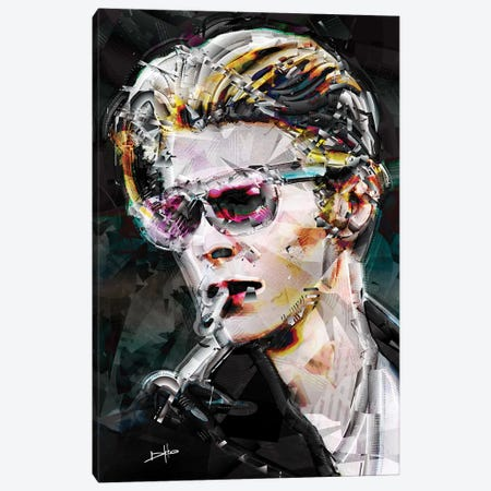 David Bowie Canvas Print #DKK27} by Darkko Canvas Artwork