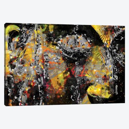 Buddha 3-Piece Canvas #DKK30} by Darkko Canvas Art