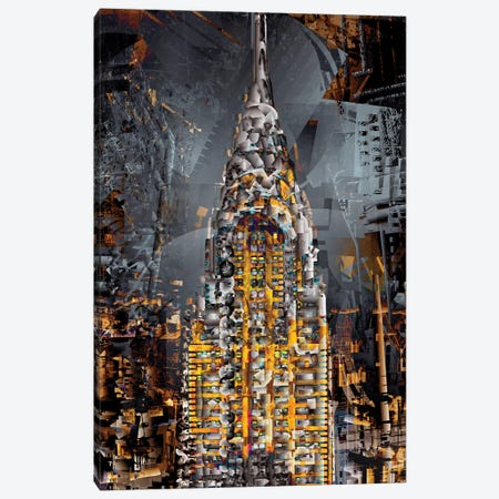 Chrysler Tower Canvas Print #DKK37} by Darkko Canvas Print