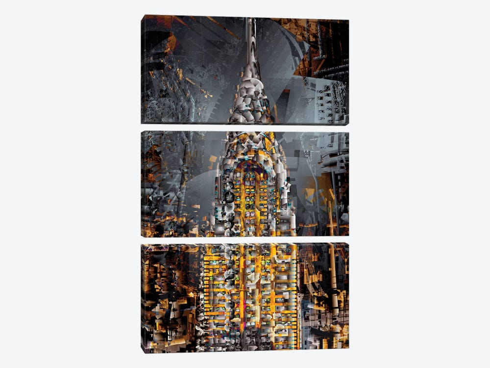 Chrysler Tower 3-piece Canvas Print