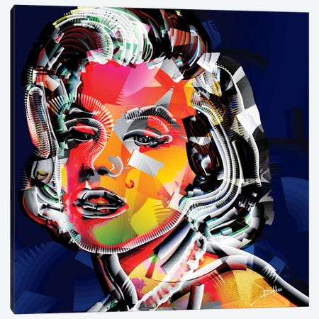 Marilyn I Canvas Print #DKK9} by Darkko Canvas Wall Art