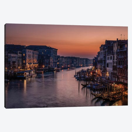 Venice Grand Canal at Sunset Canvas Print #DKN1} by Karen Deakin Canvas Art Print