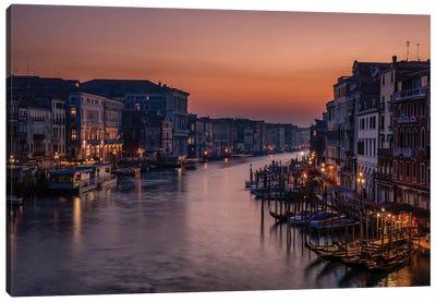 Venice Grand Canal at Sunset Canvas Art Print
