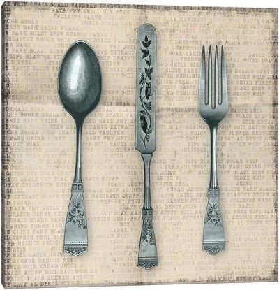 Dinner's Design Canvas Art Print
