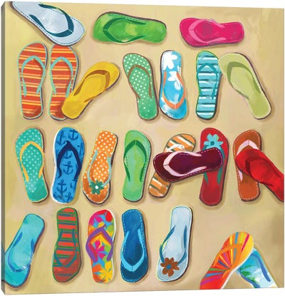 Flip Flops I Canvas Art Print