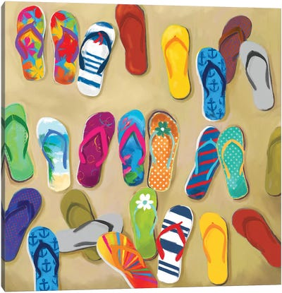 Flip Flops II Canvas Art Print