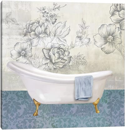 Garden Bath II Canvas Art Print