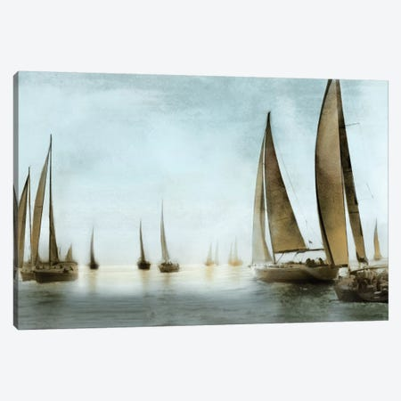 Golden Sails Canvas Print #DKO16} by Drako Fontaine Art Print