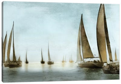 Golden Sails Canvas Art Print