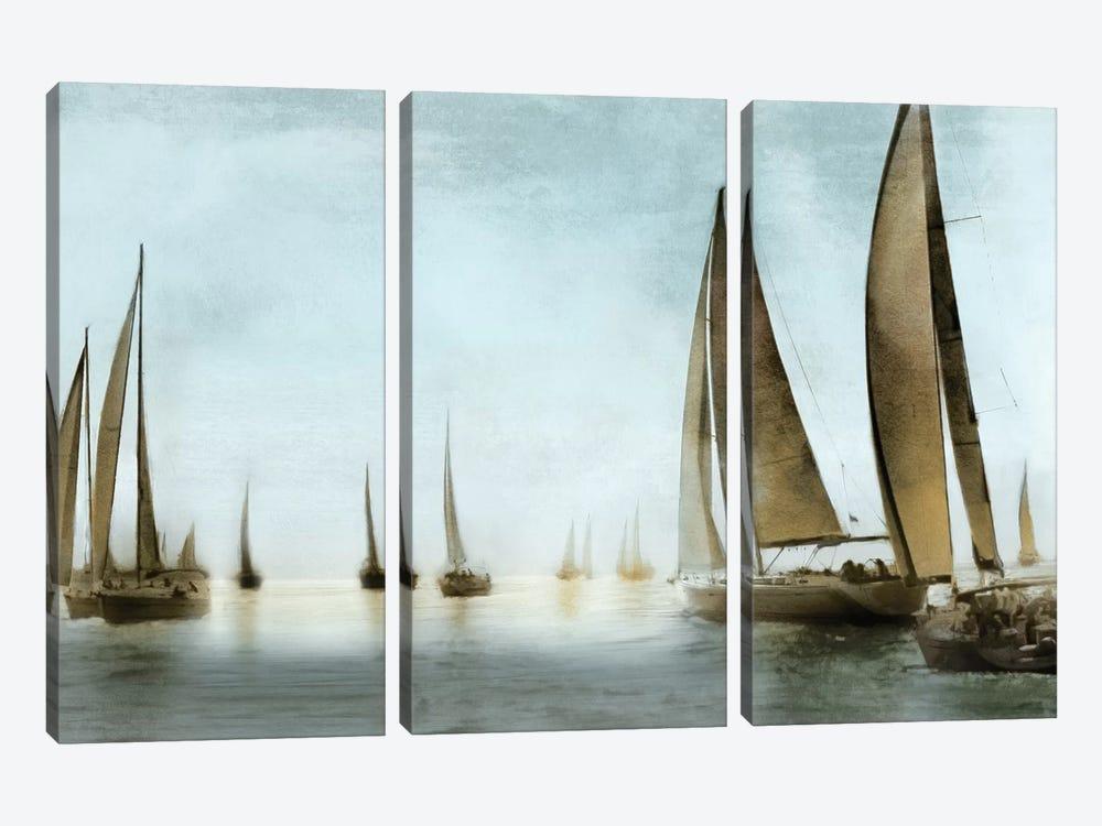 Golden Sails by Drako Fontaine 3-piece Art Print
