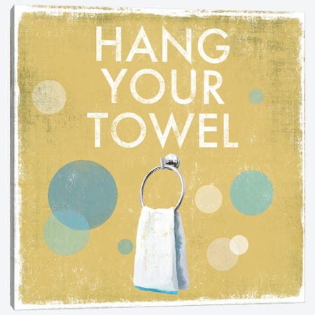 Hang Your Towel Canvas Print #DKO17} by Drako Fontaine Canvas Art Print