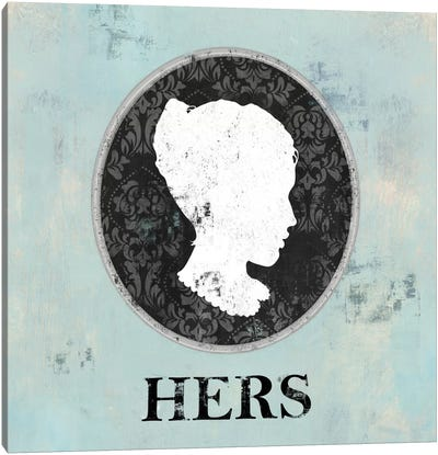 Hers Cameo Canvas Art Print