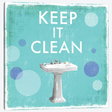 Keep It Clean Canvas Print #DKO22} by Drako Fontaine Canvas Art Print