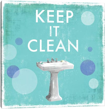 Keep It Clean Canvas Art Print