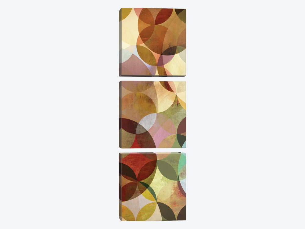 Multi-sliced I by Drako Fontaine 3-piece Canvas Art Print