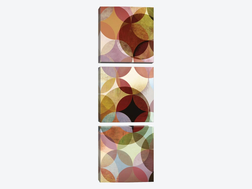 Multi-sliced II by Drako Fontaine 3-piece Canvas Wall Art