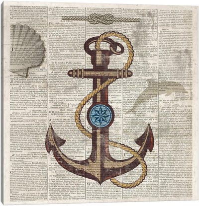 Nautical Collection I Canvas Art Print