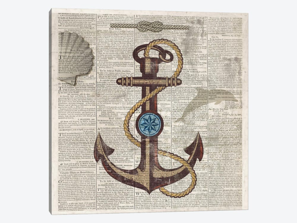 Nautical Collection I by Drako Fontaine 1-piece Canvas Art Print