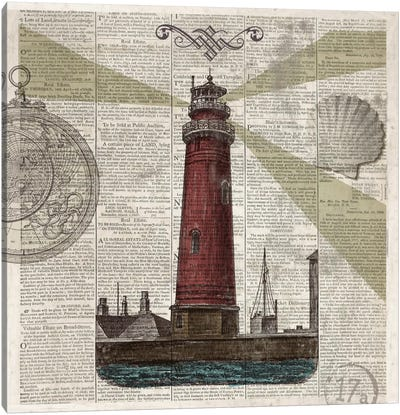 Nautical Collection II Canvas Art Print