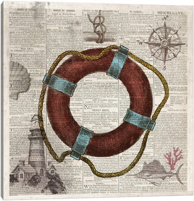 Nautical Collection IV Canvas Art Print