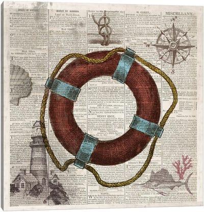 Nautical Collection IV Canvas Art Print