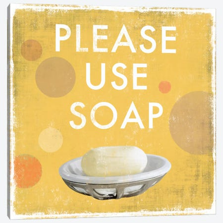 Please Use Soap Canvas Print #DKO29} by Drako Fontaine Art Print