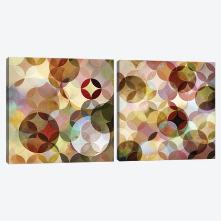 Asymmetrical Slices Diptych Canvas Print Set #DKO2HSET001} by Drako Fontaine Canvas Art Print
