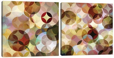 Asymmetrical Slices Diptych Canvas Art Print