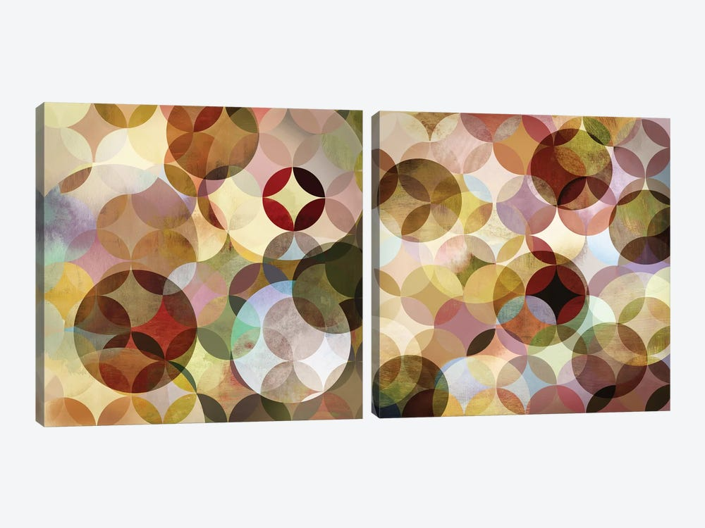 Asymmetrical Slices Diptych by Drako Fontaine 2-piece Canvas Wall Art
