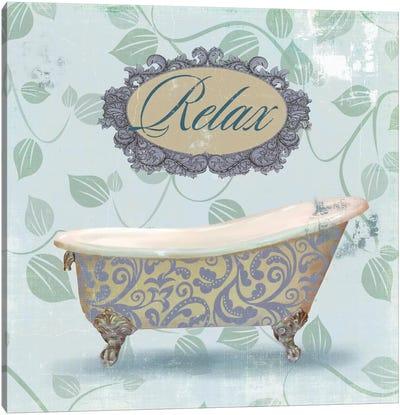 Relax Bath Canvas Art Print
