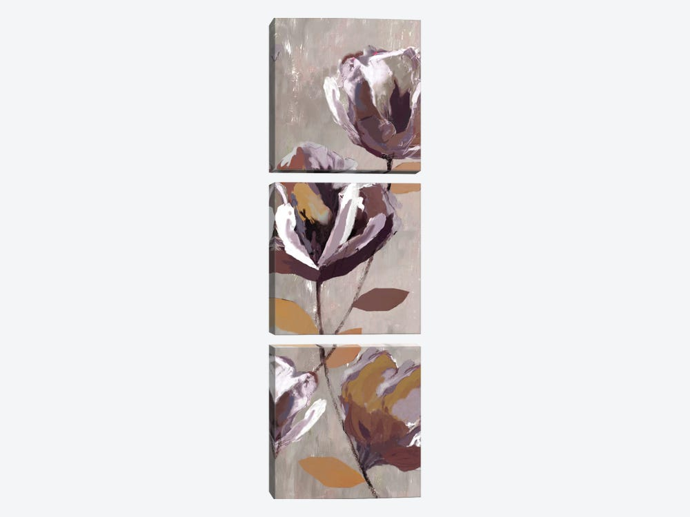 Rising Magnolias I by Drako Fontaine 3-piece Canvas Art Print