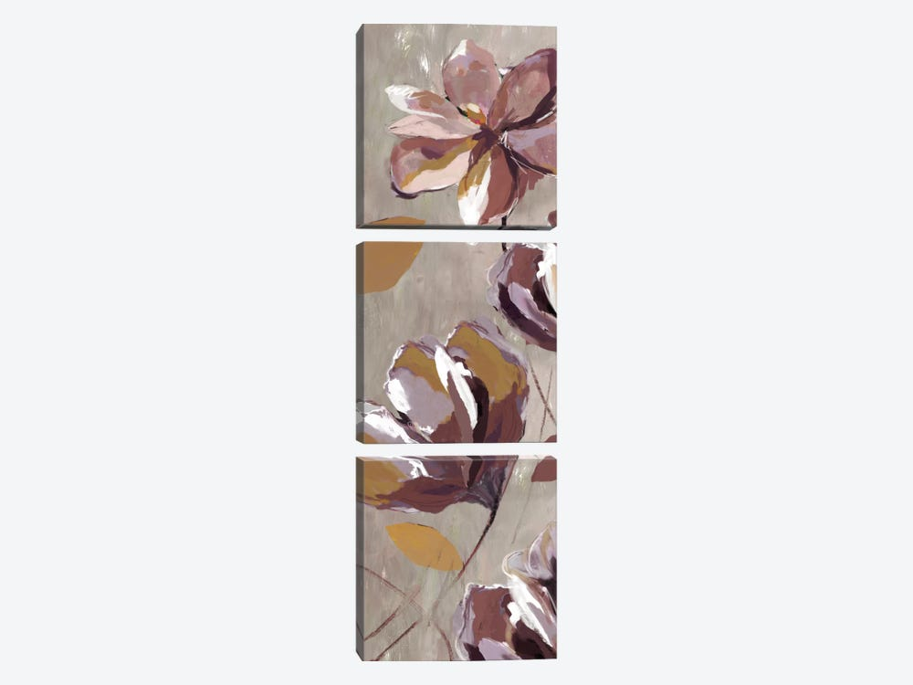Rising Magnolias II by Drako Fontaine 3-piece Canvas Artwork