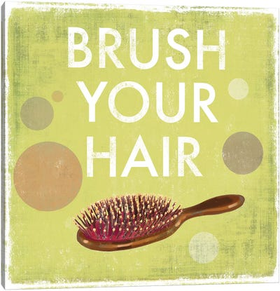 Brush Your Hair Canvas Art Print