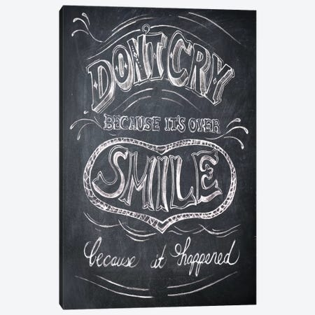 Smile Canvas Print #DKO40} by Drako Fontaine Canvas Print
