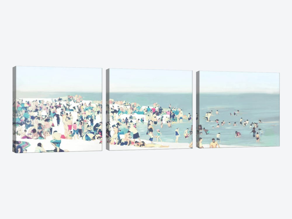 The Beach by Drako Fontaine 3-piece Art Print