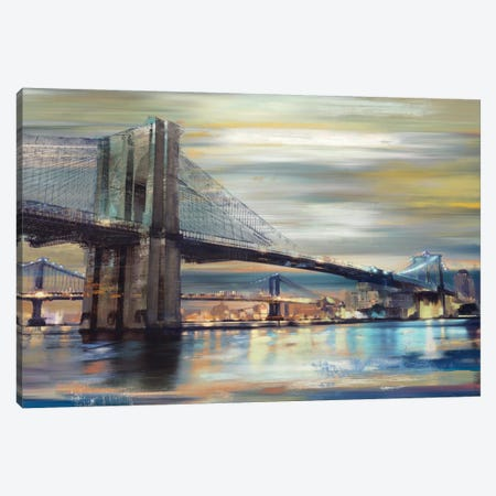 Twilight Crossing Canvas Print #DKO46} by Drako Fontaine Canvas Art