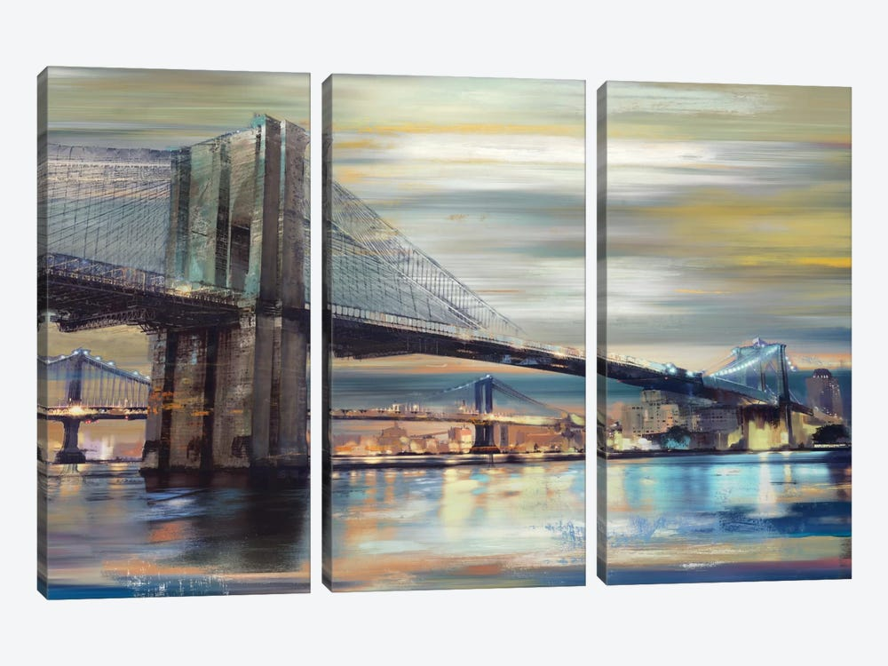 Twilight Crossing by Drako Fontaine 3-piece Canvas Artwork