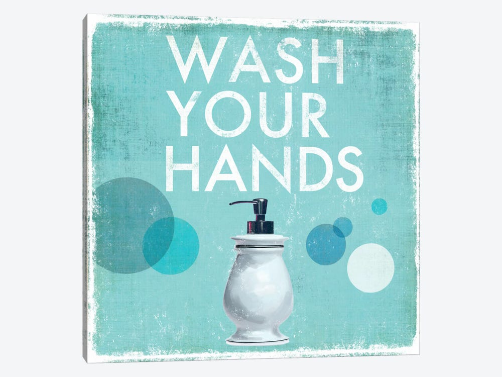 Wash Your Hands by Drako Fontaine 1-piece Canvas Art Print