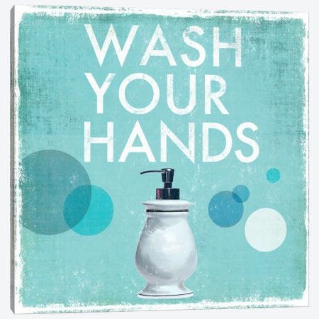 Wash Your Hands Canvas Print #DKO47} by Drako Fontaine Canvas Wall Art