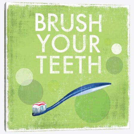Brush Your Teeth Canvas Print #DKO4} by Drako Fontaine Canvas Art Print